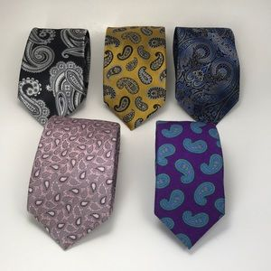 Crazy Bundle 5 Paisley Ties Robert Talbott Etc